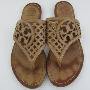 Tory Burch BeigeTan Sandals Flip Flops 8M